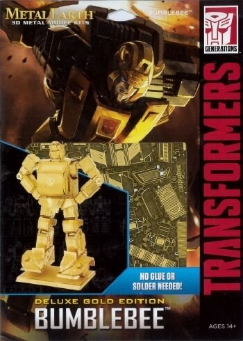 Bumblebee Gold Version Transformers Metal Earth 3D Model Kit FASCINATIONS