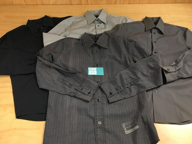 LOT OF 4 Button Up Long Sleeve Dress Shirts Express Design Studio G Star Raw