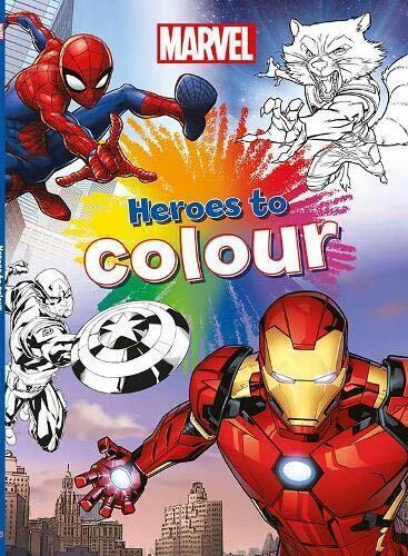 Par Parragon Books Livre de coloriage Marvel Heroes to couleur
