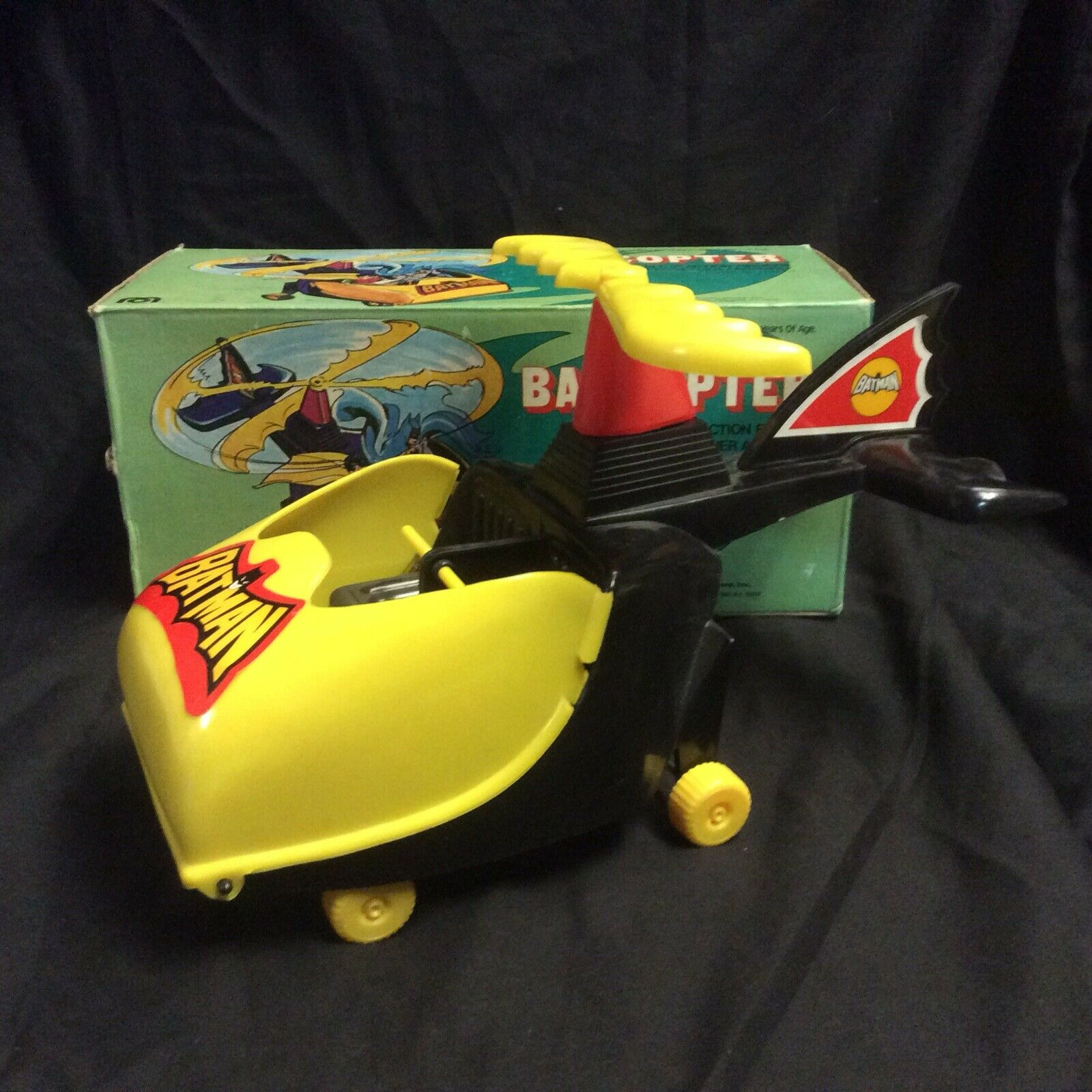 Mego Batcopter Vintage 1974 med Box Original Batman