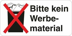 stop bitte kein werbematerial werbung post brief 10x aufkleber 60x30mm 10219 ebay. Black Bedroom Furniture Sets. Home Design Ideas