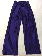 Eastbay Mens XLT XL Tall Royal Purple Tear Away Snap Side Warm Up Athletic Pants
