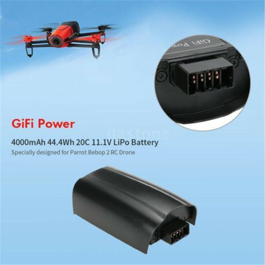 4000mAh 44.4Wh 20C 11.1V LiPo Battery Battery Battery for Parred Bebop 2 RC Drone Quadcopter dd0338