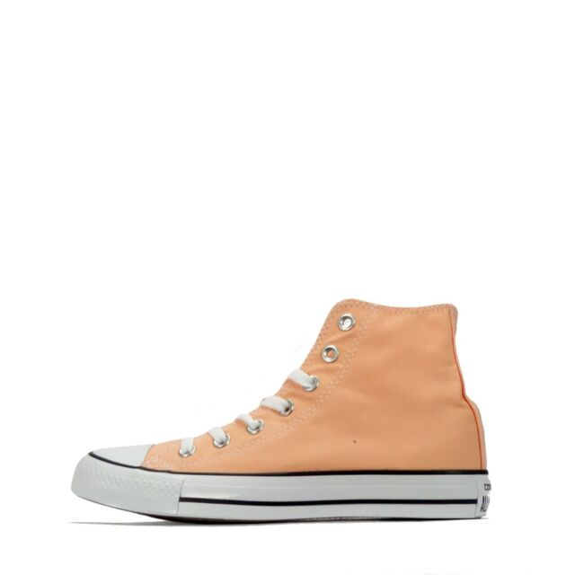 6ddc3da8a862 Converse Chuck Taylor All Star Hi Unisex Lace up Shoes Plimsolls in Sunset  Glow