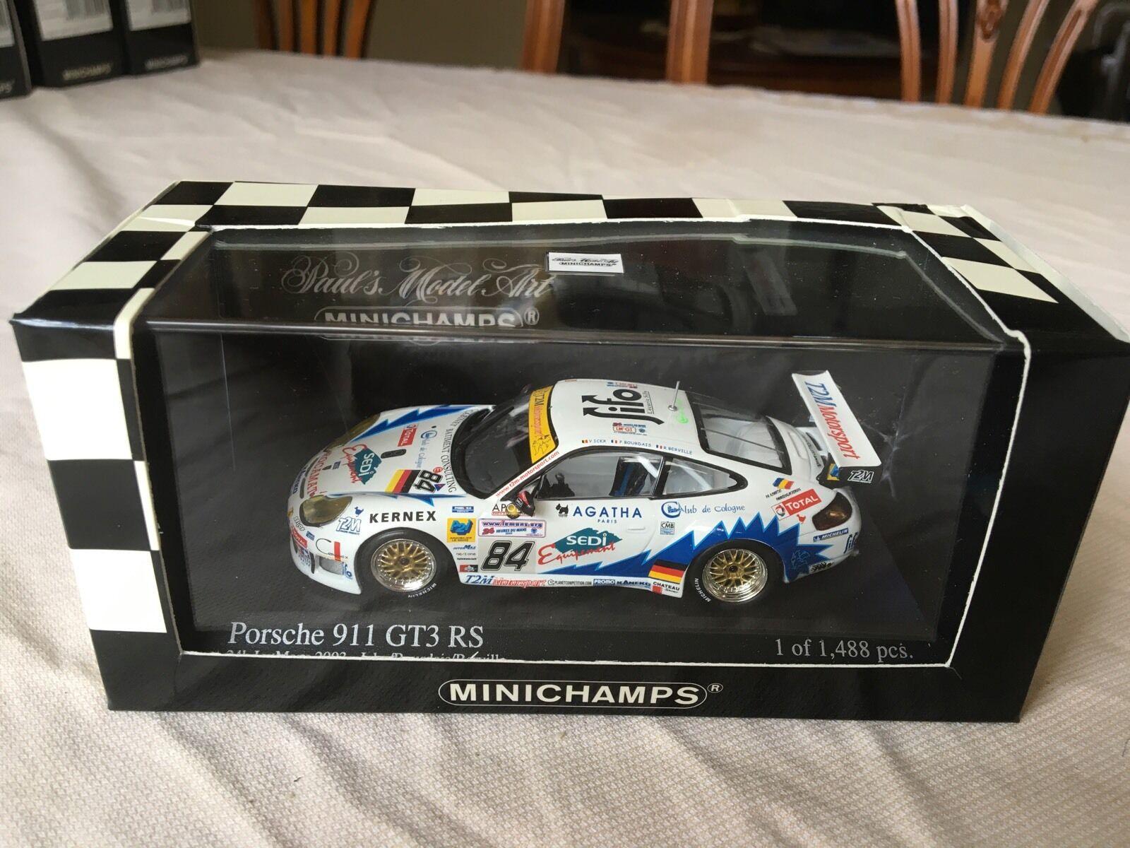 Minichamps Porsche 911 GT3 RS, 24hrs Le Mans 2003 in 1 43 scale diecast