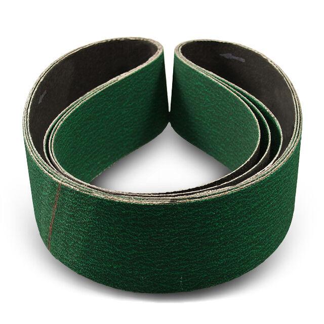 Powertec 6x48 inch 24 Grit Metal Grinding Zirconia Sanding Belt 3 Pack Sandpaper