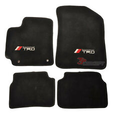 Fits 09-10 Toyota Corolla Black Nylon Floor Mats Carpets 4pcs Custom Fitment