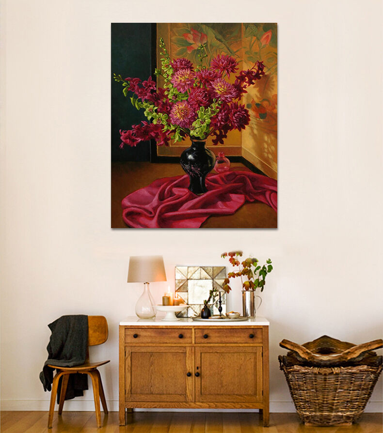 3D Helle Retro Blumen Vase 8946 Fototapeten Wandbild BildTapete AJSTORE DE Lemon