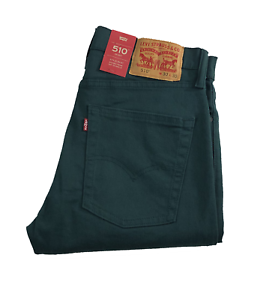 NEW-MEN-039-S-LEVIS-PREMIUM-510-SKINNY-FIT-JEANS-EVERGREEN-055100660-ALL-SIZES