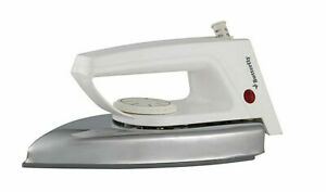 Butterfly Classic Nonstick Coating Sole Plate 1000-Watt Dry Iron (Silver/White)