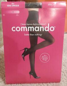 b57ac940c1706 Image is loading Womens-Commando-Black-Semi-Opaque-Tights-Size-M-