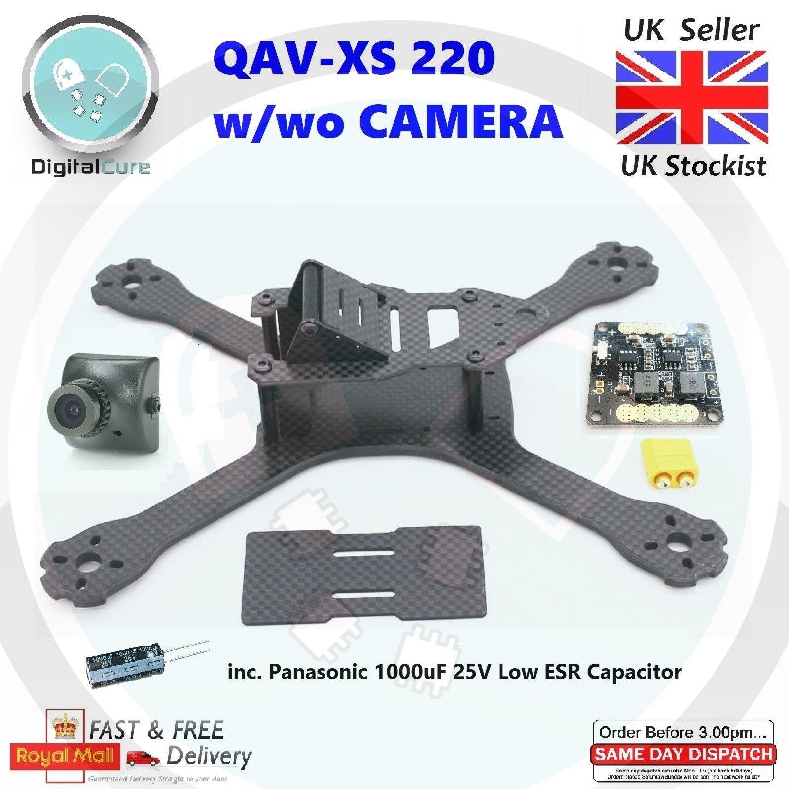 QAV-XS 220mm Carbon Fiber Racing Quadcopter Frame 4mm ARMS w wo Camera - QAV-R