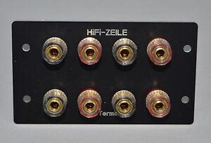 HiFi-ZEILE-Braun-Atelier-A1-A2-Hochwertiges-Lautsprecher-Anschlussterminal