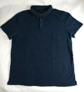 Marc-Anthony-Men-039-s-Cotton-3-Button-Short-Sleeve-Polo-Shirt-Navy-Blue-Size-XL