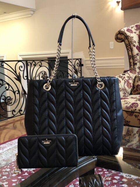 c24cd23d6 Kate Spade Willis Briar Lane Quilted Black Leather Handbag for sale ...