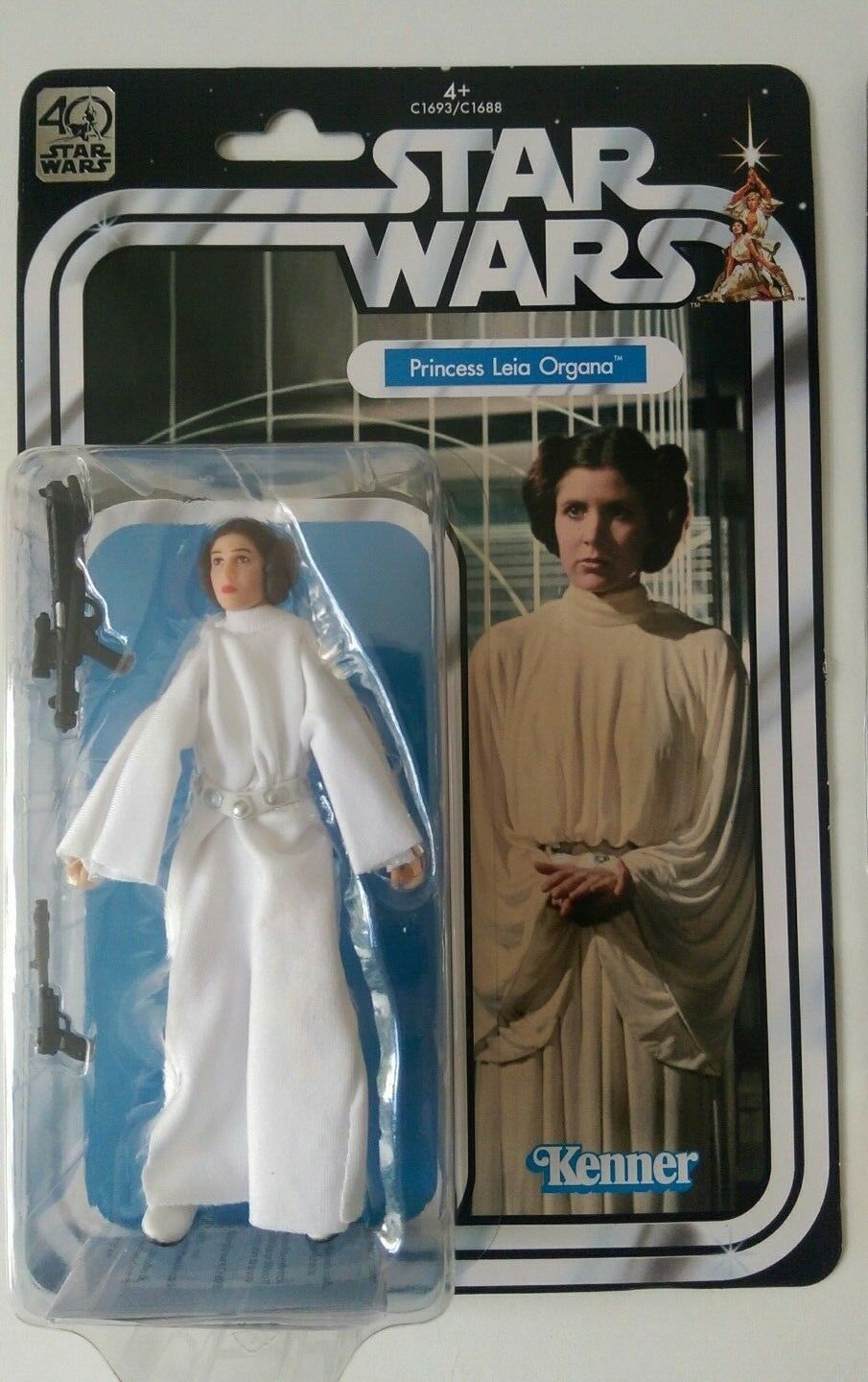 STAR WARS 6 IN ACTION FIGURE 40TH ANNIVERSARY - PRINCESS LEIA NO WARNING STICKER