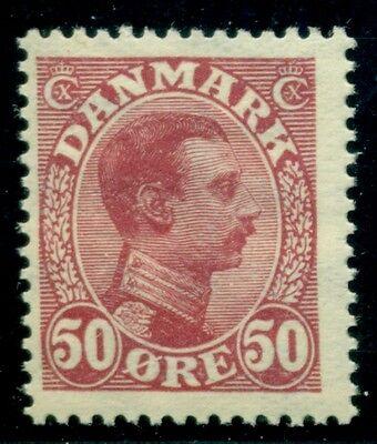 DENMARK #120 (153) 50ore Chr. X, og, NH, VF, Scott $120.00