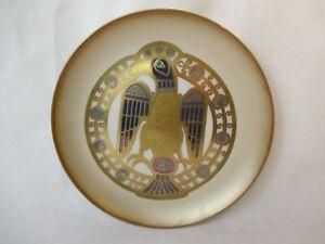 Morbelli Italia Limitado Porcelana Placa de Pared 1983 Chapado Oro Alemanes Tema