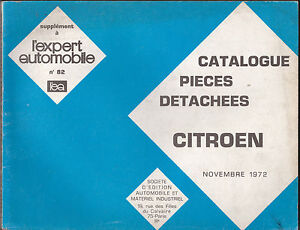 catalogue pi ces d tach es citro n novembre 1972 ebay. Black Bedroom Furniture Sets. Home Design Ideas