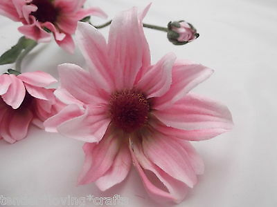 "4 Stems ORANGE Daisy Artificial Silk Flowers 24/"" Spray 1001OR"