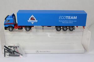 sw2170-WIKING-Werbemodell-MB-Nutzfahrzeuge-ECOTEAM-BOX-mint-Neuw-Dealer-Edition