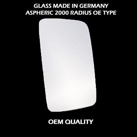 Mercedes Sprinter aile miroir de verre avec base-chauffée RHS argent 1995 To 2006