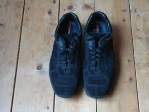 Prada Sneakers shoes Size Uk7 £570 Mens Vgc Rrp 5 Black H1r5HnTFW