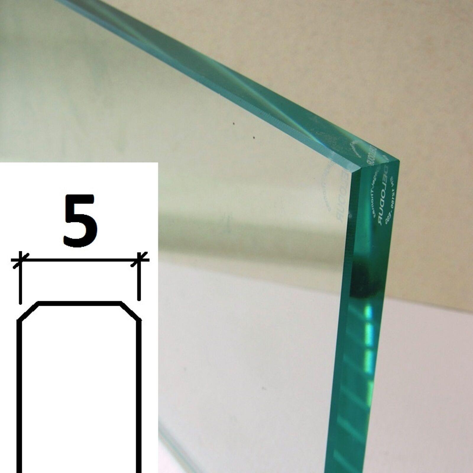 ESG Glasscheibe 5 mm POLIERT - nach Ihrem WUNSCH-Maß ( /m²)