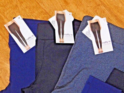Matty M Femme Leggings Legging Tricot Doux Stretch Pantalon 3 Couleurs 4 Tailles BNWT