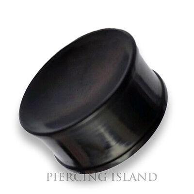 4mm 30mm Black CORNO Double Flared Flesh Tunnel Plug Nero Piercing Orecchio 195