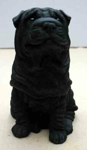 CASTAGNA DOG FIGURINES BLACK SHAR PEIS ITEM 015N SITTING