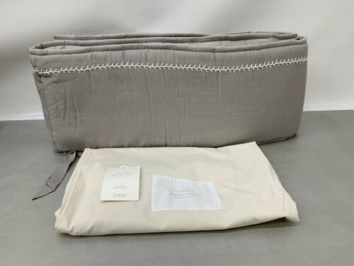 8340-0181 Restoration Hardware Baby /& Child Ultra-Fine Cotton Grey Crib Bumper