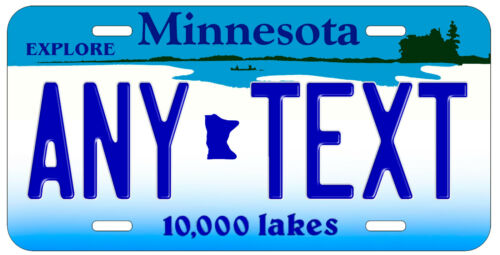 Personalized Custom Minnesota State License Plate Any Name Novelty Auto Car Tag