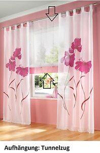 Gardinen raffrolo mit tunneldurchzug in pink 1 x 155 - Pinke gardinen ...