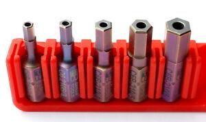 PB-SWISS-TOOLS-C6-210B-Precision-Bits-Bit-Set-Sechskant-mit-Bohrung-5-tlg-NEU