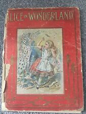 Alice In Wonderland Antique Book Colored Illustrations RARE NR