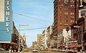 Erie-PA-Fishers-Art-Deco-Sign-Koehler-Beer-Billboard-Hanover-Shoes-Rexall-c1960