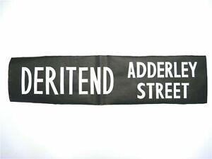 Vintage-1984-printed-Lea-Hall-Bus-destination-blind-Deritend-Adderley-Street