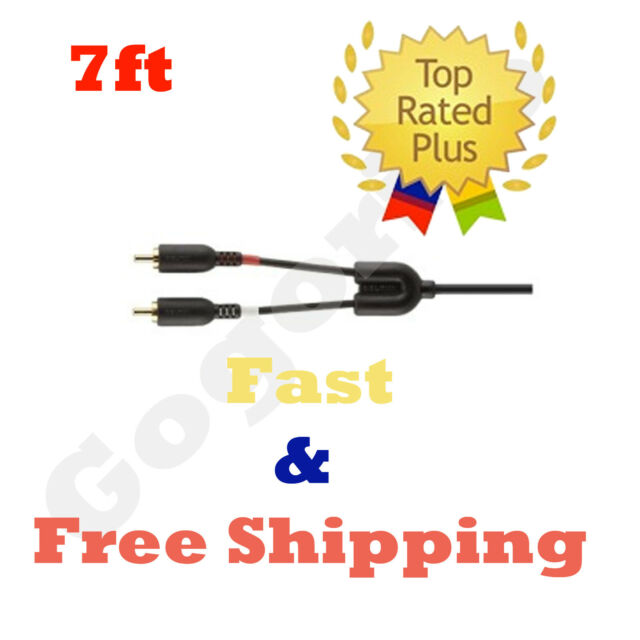 NEW Belkin Mobile 7in Low 1-3.5mm Plug Black Y adapter 2rca Plugs F8Z360TT07-P