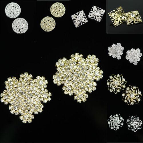 Viele Form Silber Golden Schnalle Diamant Strass Knöpfe Nähen