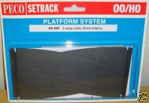 Peco-00-Setrack-ST-297-Platform-Ramps-Stone-00-Model-Railway