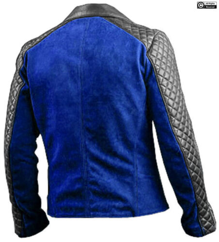 Mens Leather Jacket Retro Cafe Racer Biker Motorcycle 100/% Real Genuine Leather