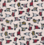 PER 1//2 /& 1 METRE COTTON SCOOTER MOPED VESPA MOTORCYCLE RETRO VINTAGE FABRIC SEW