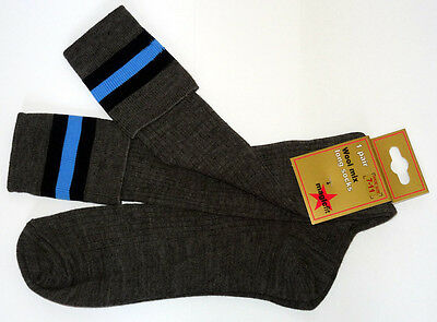 School Uniform Lana Rodilla Calcetines 3 Trim Bandas-Muchos Colores Zapato Adulto tamaño 7-11