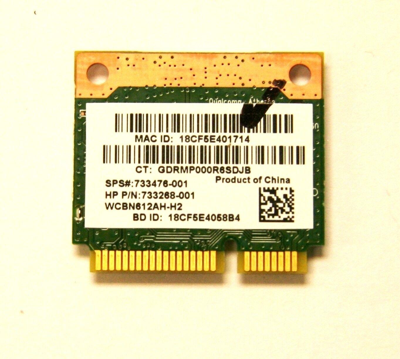 HP Qualcomm Atheros Qcwb335 802 11n Wireless Bluetooth 4 PCIe Half  733476-001 26