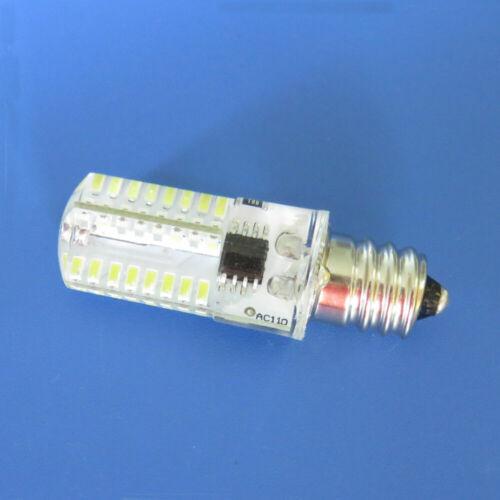 10pcs E12 Candelabra C7 64-3014 LED Light Lamp Bulb Fit PQ1500S Sewing 120V