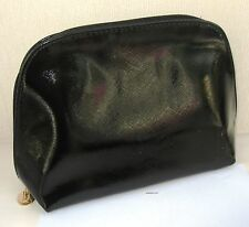 Yves Saint Laurent Soft Black Patent Beaute Make Up/Clutch Bag - New