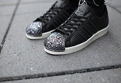Adidas superstar superstar Adidas años 80 3D metal del dedo del pie Negro Zapatillas Para Mujer Talla Reino Unido 6.5 Rara f06cf7
