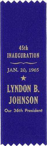 1965 Lyndon B Johnson Inauguration Souvenir Ribbon 5041