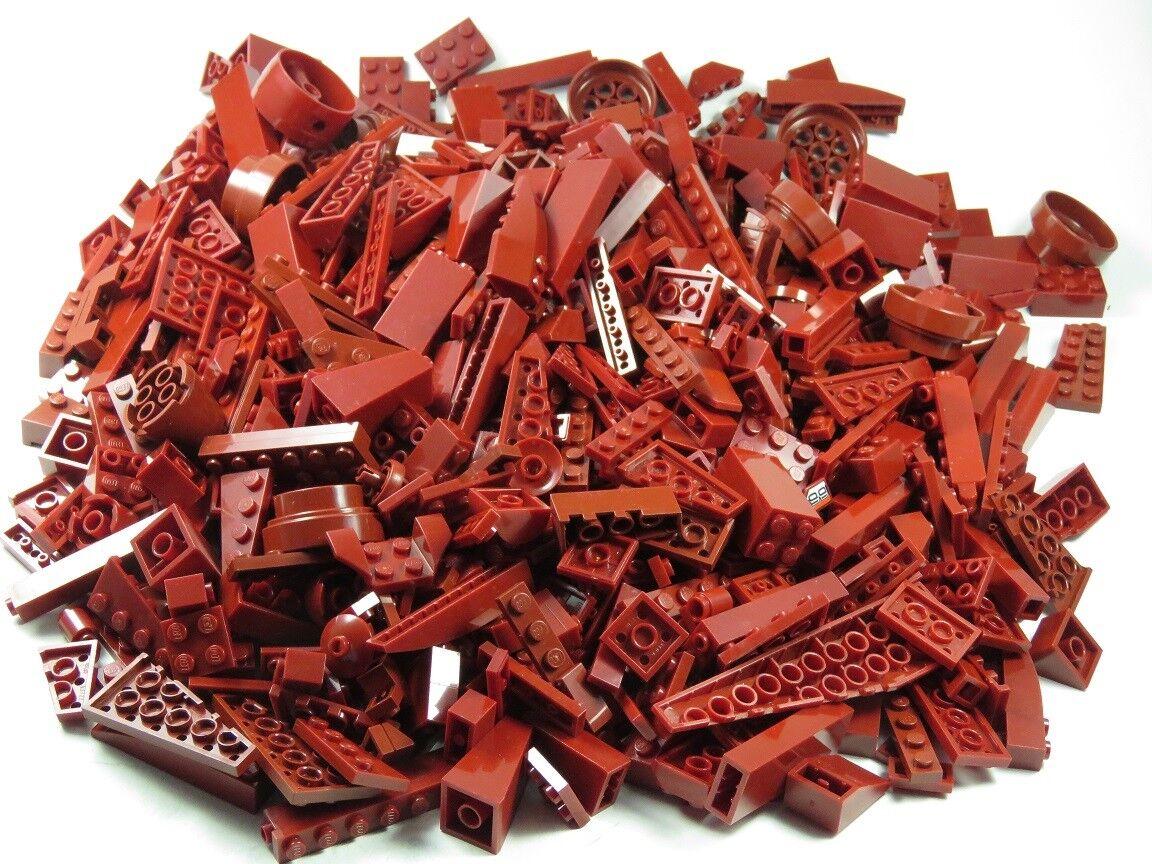 Lego ® Lot Pierres Rouge Foncé Bordeaux Rouge pilier plaque Space véhicule avion